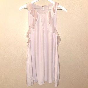 Free People flutter ruffle sleeveless dress